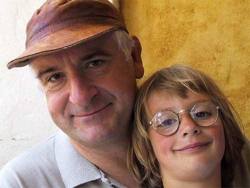 Douglas Adams et sa fille Polly